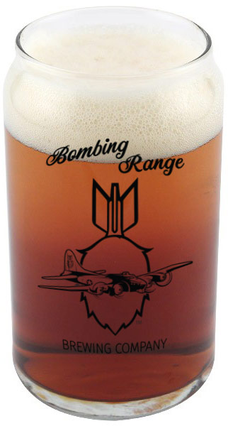 Bombing Range Brewing Company's Beer Glasses
